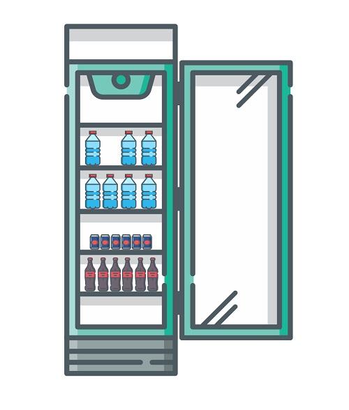 flaskekøleskab